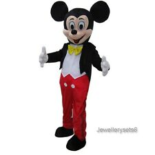 Adult Mickey Mouse Mascot Costume Outfit New Christmas Fancy Dress