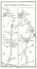 Antique map, Road from Stokestown to Castlebar (2)
