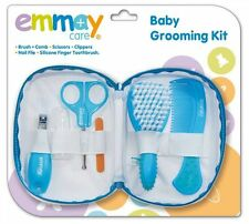 EMMAY CARE BABY GROOMING KIT HEALTHCARE BRUSH NAIL FILE 6 ESSENTIAL PIECE BAG