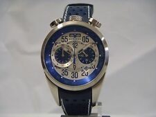 BOMBERG CHRONOGRAPH DATE BLUE LEATHER STRAP MENS WATCH NS39CHSS.SI0.3.LBU NEW