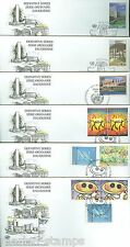 UNITED NATIONS 1998 DEFINITIVES  LOT OF 16  FIRST DAY COVERS AS SHOWN