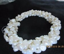 freshwater white pearl 5 strand torsade necklace made in italy
