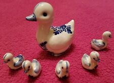 VINTAGE MOTHER DUCK AND BABIES PORCELAIN CERAMIC COLLECTIBLE RARE