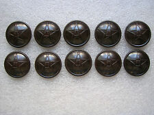 1955's China PLA Army,Navy,Air Force Soldier NCO Bakelite Buttons,10 Pcs,26mm