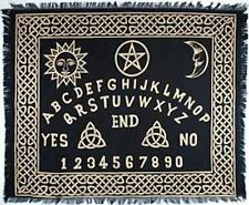 "Ouija Board Altar Cloth 24"" x 30"" in Black and Gold! pagan witch"