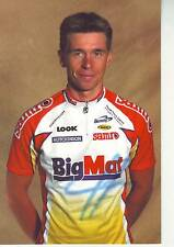 CYCLISME carte cycliste ALEXANDRE CHOUFFE équipe BIG MAT AUBERT 93 2001 signée