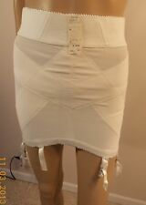 vint NWT Gosard Original 6 gartr open bottom girdle NEW Unused white sexy! pinup