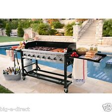 NEW - Commercial Rolling Stainless Steel 8-Burners Propane Gas BBQ Event Grill
