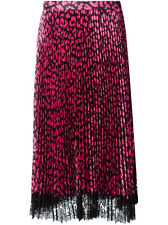 New Christopher Kane Neon Leopard Pleated Skirt - RRP £720