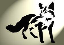 Paese Fox Stencil Shabby Chic Rustico Vintage in MYLAR a4 297x210mm Wall Art
