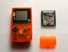 Gameboy Color Clear Orange Custom Konsole Nintendo TOP + Super Mario Deluxe
