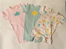Baby Girls 6-9 Months X3 Baby Grow Bodysuit Bundle Fish Design Marks And Spencer