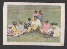 Gene Tunney 1930s Spanish Boxing Card B Talking to Children Summer Day