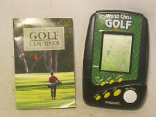 Radica 3730 hand held World Class GOLF golfing lcd video game golfer w/ course