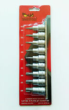 "TENG TOOLS M1213TPX 1/2"" DR. 9 PC TPX BIT SOCKET SET 38190104"