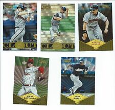 1997 Pinnacle  Museum Collection Baseball 5 Card Lot Hideo Nomo Bob Abreu ....