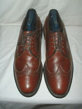 Men's Executive Imperials Brown Wingtip Oxford Shoes 10.5 w/Shoe Tree