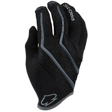 Pro-Tech Hands Down Cycling/Bicycle Full Finger Gloves Black/Gray Small