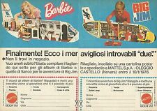 X9801 Barbie - Big Jim - Super-Concorso Mattel  - Pubblicità 1975 - Advertising