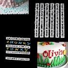 Alphabet Number Letter Cake Decorating Mold Fondant Icing Cutter Mould Set WT7n