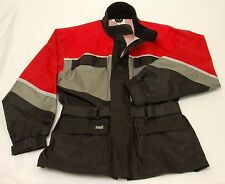 Men's Tour Master Motorcycle Riding Jacket Red Black Lined Vented size Small