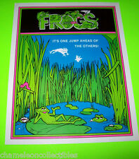 FROGS By GREMLIN 1978 ORIGINAL VIDEO ARCADE GAME SALES FLYER BROCHURE