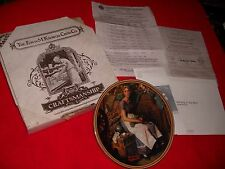 Mib Norman Rockwell plate Recovered Women DREAMING IN THE ATTIC coa FIRST