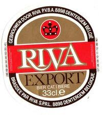 Belgian Beer Label - Riva Brewery - Belgium - Riva Export