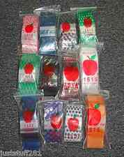 Apple Baggies #1515 (1,200) ASSORTED DESIGNS (12 Packs With 100 In Each Pack!!)