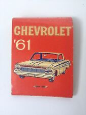 Chevrolet 1961 Matchbook Chevy Kite St Paris Oh used red