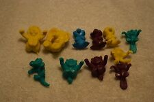 Lot Of Vintage Plastic Drink/Cocktail Hangers, Various Colors, Animals