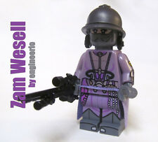 LEGO Custom -- Zam Wesell -- Star Wars Mini figure boba fett jango bounty hunter