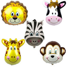 10ps JUMBO Animal Zoo Safari Giant Foil Helium Balloons Party Supplies Jungle