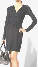 "$198 BCBG BLACK ""AML6G621"" WOOL WRAP SWEATER DRESS NWOT  S"