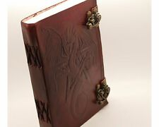 """Pentacle/Pentagram Dragon Book Of Shadows Wicca Diary Witch Leather Journal 7x5"""""""