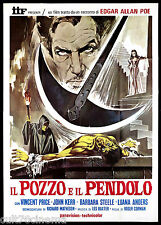 IL POZZO E IL PENDOLO MANIFESTO CINEMA CORMAN PRICE HORROR 1961 MOVIE POSTER 4F