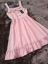 Yumetenbo/DearMyLove Large ribbon&Lace-up lolita/Hime Summer dress Japan SizeM