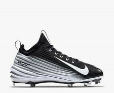 Nike Lunar Vapor Trout Metal Baseball Cleats Black/ White Size 10 654853-010