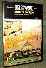 """20038 MODEL RAILROAD VIDEO DVD """"BUILDING THE RGS #9"""" DOLORES TO RICO"""