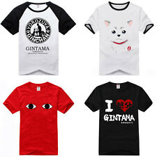 New Anime Cotton T-Shirt Gintama Silver Soul Short Sleeve Casual Clothes Top Tee
