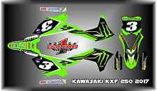 Kawasaki KXF KX  250 250F 2017   SEMI CUSTOM GRAPHICS KIT eli