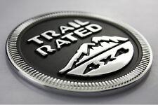 SUV Truck Off Road Rear Trunk Black Aluminum Trail Rated 4x4 Logo Sticker Emblem