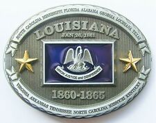 PATRIOTIC STAR STATE FLAG LOUISIANA BELT BUCKLE