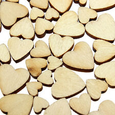 60X Wooden Mini Mixed Heart Embellishments DIY Art Craft Cardmaking Scrapbooking