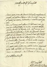 Lettera Autografo Vescovo Andria Alessandro Strozzi Accademia Affidati 1648