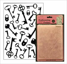Craft Too embossing folders Antique KEYS folder CTFD3098 All Occasion 5x7
