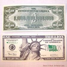 WHOLESALE LOT OF - 100 TRILLION - DOLLAR NOVELTY BILLS