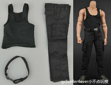 "1/6 scale Black suit special soldier Rambo clothes fit 12"" body figure"