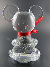 CLEAR GLASS CONTROLLED BUBLES MOUSE FIGURINE PAPERWEIGHT (W8-5)