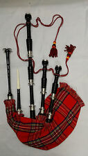 Great Highland Bagpipe Rosewood Silver Amounts/Scottish Bagpipes Free Reed,Drone